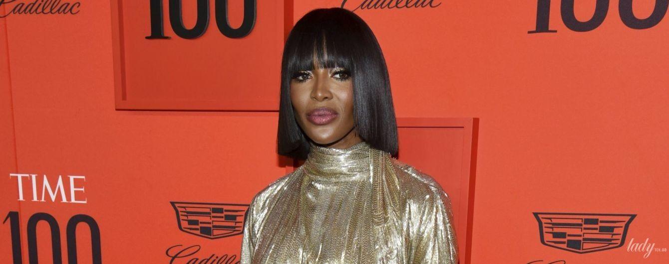 Вся в золоте: эффектная Наоми Кэмпбелл на гала-вечере Time 100 в Нью-Йорке