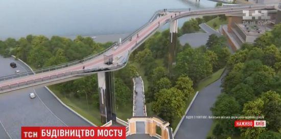 Пішохідний міст між Володимирською гіркою та Хрещатим парком майже добудували