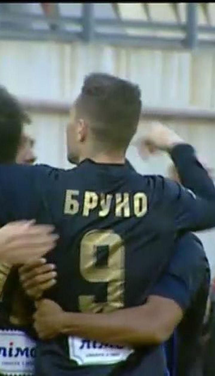 Заря - Львов - 0:1. Видео гола Бруно