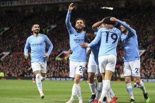 """Манчестер Сити"" триумфовал на ""Олд Траффорд"" и вернулся на вершину чемпионата Англии"