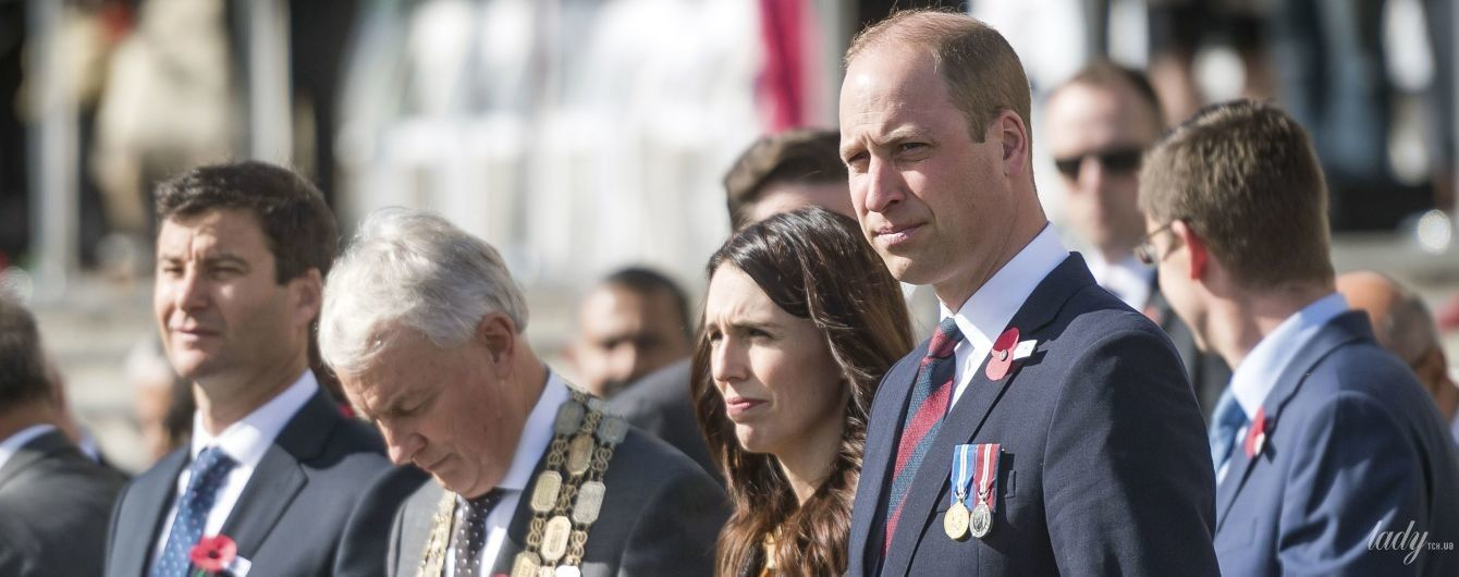 Принц Вільям в пом'ятому костюмі зустрівся з елегантно одягненою прем'єр-міністром Нової Зеландії Джасіндою Ардерн