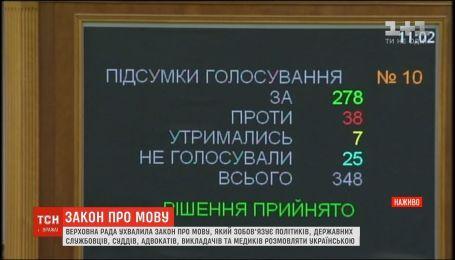 Верховная Рада приняла закон об украинском языке