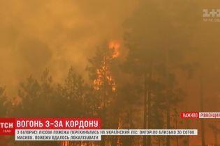 Небезпека з Білорусі: надзвичайники не дали лісовій пожежі масштабно перекинутись через кордон