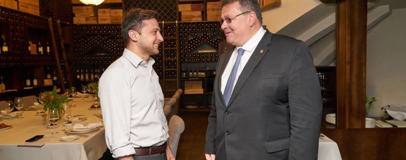 Перша міжнародна зустріч: у Зеленського розповіли про теми розмови з Лінкявічюсом