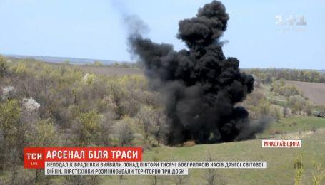 Целый арсенал боеприпасов времен Второй мировой войны разминировали в Николаевской области