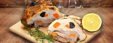 Буженина из свинины с черносливом