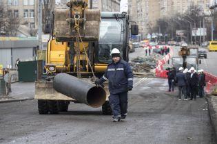 Строительство Шулявского моста показали на видео