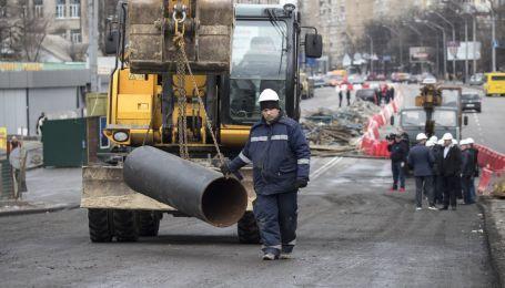 В Киеве начали возведение нового Шулявского моста