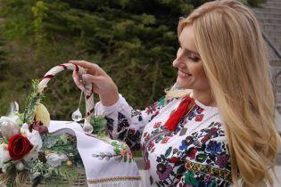 Окропленная Никитюк и Федишин с цветочной корзиной: как украинские звезды праздновали Пасху