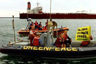 Активисты Greenpeace незаконно вылезли на нефтяную платформу в Арктике