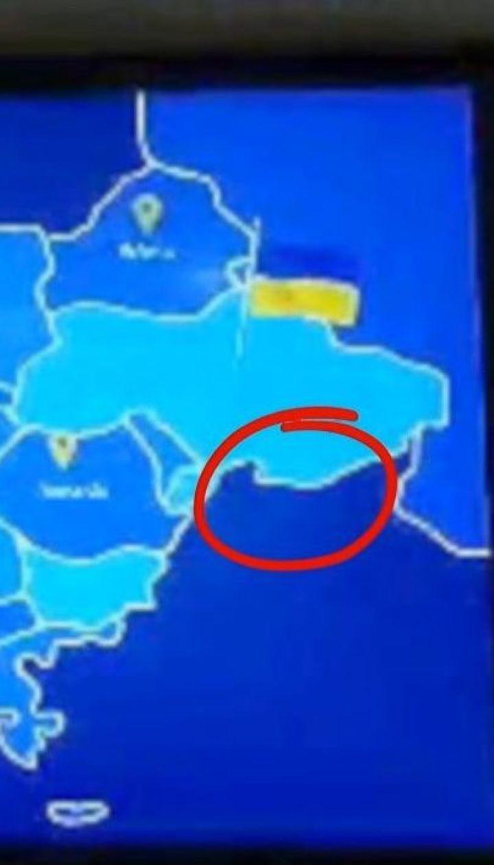 """В аэропорту """"Борисполь"""" транслировали видеоролик с картой Украины без Крыма"""