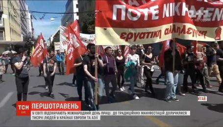 Забастовки и сотни задержаний: как в мире провели Международный день труда