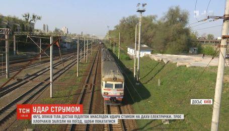 У Києві підліток отримав опіки 45% тіла після катання на даху електрички