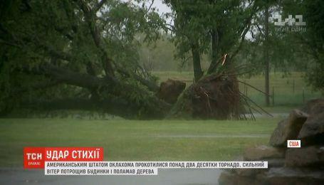 Ураган с торнадо бушевали в американском штате Оклахома