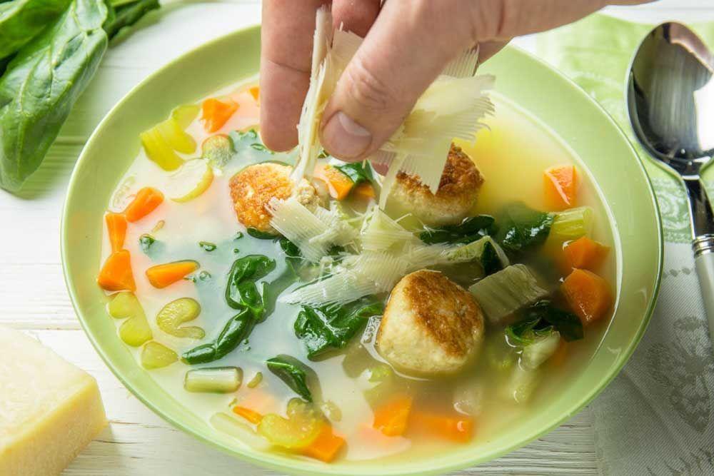 Суп з фрикадельками, для блогів