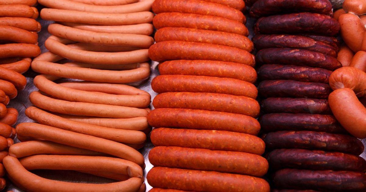 Украина в прошлом году импортировала рекордное количество колбас