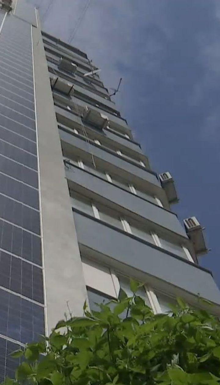 Многоэтажку в Киеве обустроили солнечной электростанцией