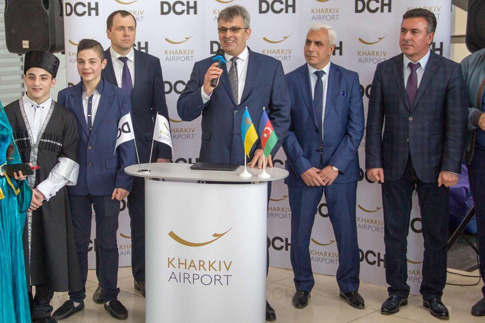 Азербайджанский лоукостер Buta Airways аэропорт Харьков