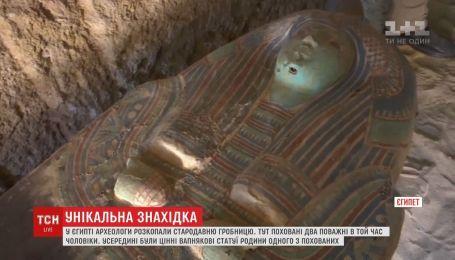 В Египте раскопали древнюю гробницу двух почетных мужчин