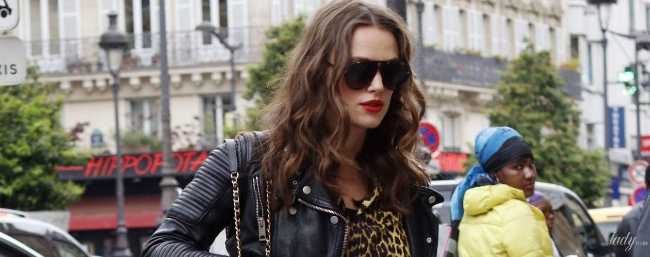 Теж носить леопард: вагітна Кіра Найтлі на вулицях Парижа
