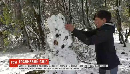Майский снег потряс Европу