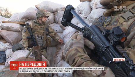 На Донеччині бойовики продовжують гатити по позиціях наших захисників