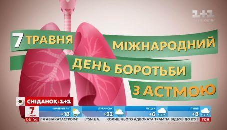 7 травня - Всесвітній день боротьби з астмою