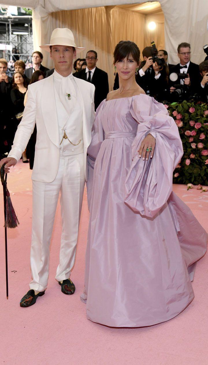 Бенедикт Камбербетч з дружиною