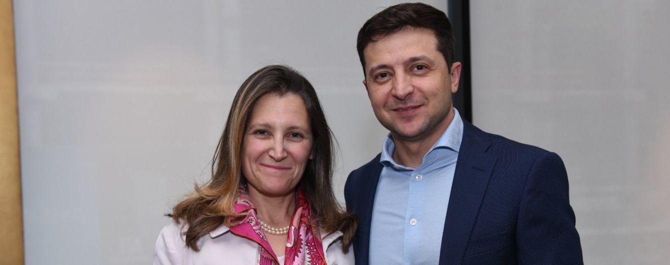 Зеленский обсудил с главой МИД Канады борьбу с коррупцией и войну на Востоке