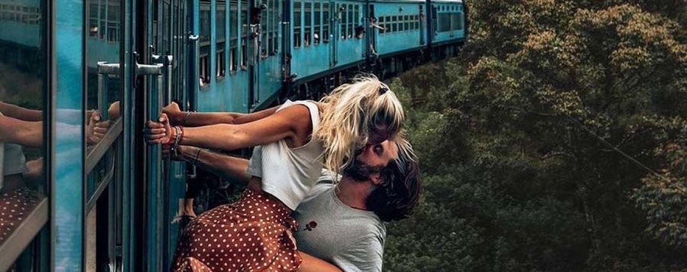 Тревел-блоггеров раскритиковали за экстремальный поцелуй в Instagram