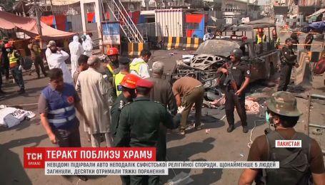 Смертельну атаку здійснили невідомі неподалік храму в Пакистані