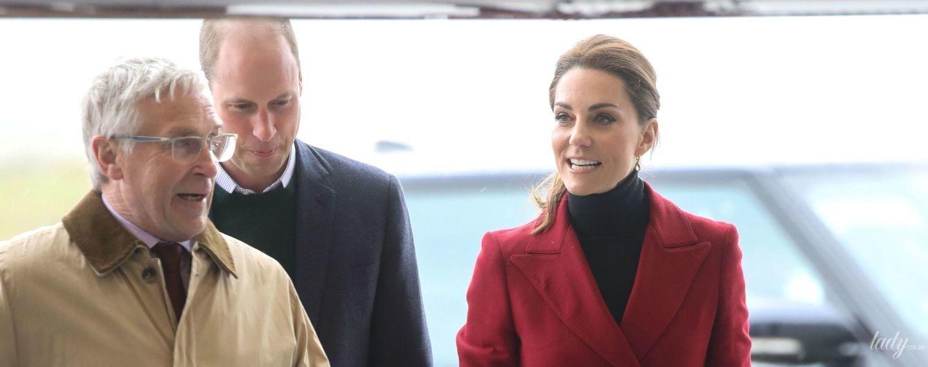 Худая и стильная: герцогиня Кембриджская приехала в Англси