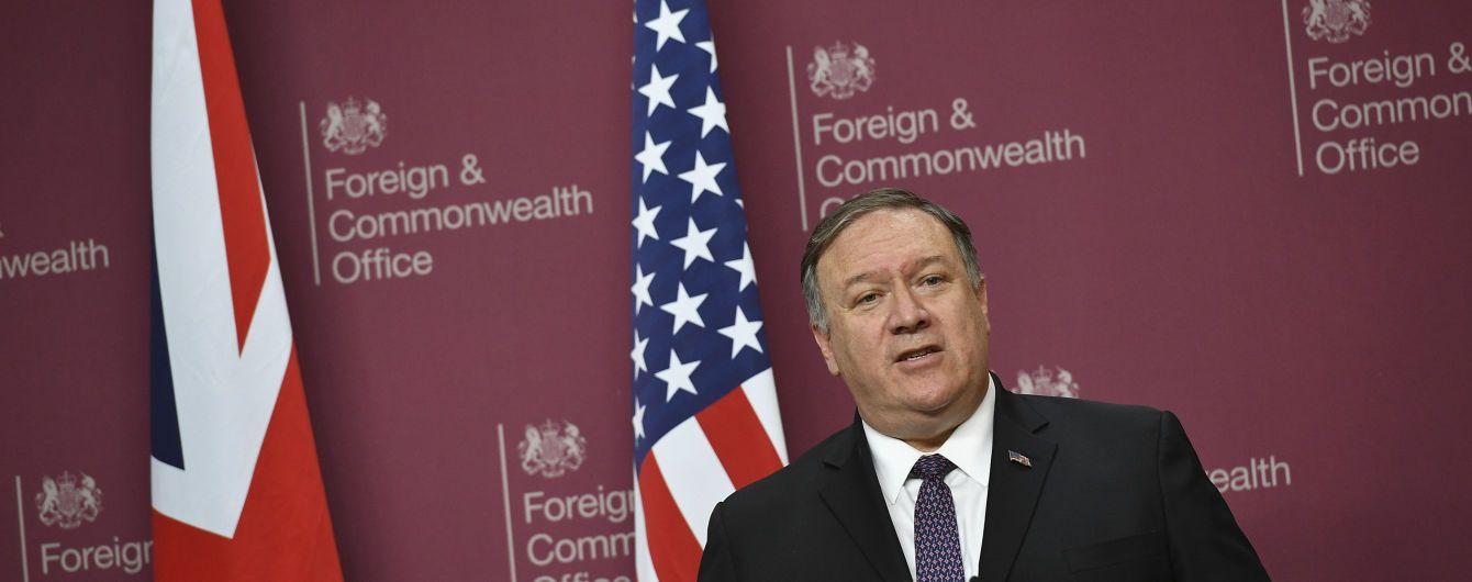 """США і Велика Британія не повинні допустити завершення будівництва """"Північного потоку-2"""" – Помпео"""