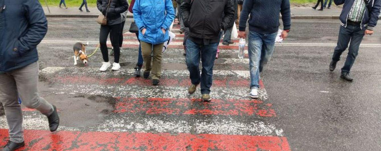 В Киеве протестующие перекрыли Протасов Яр из-за застройки