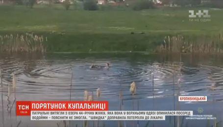 44-летнюю женщину вытащили патрульные из озера в Кропивницком