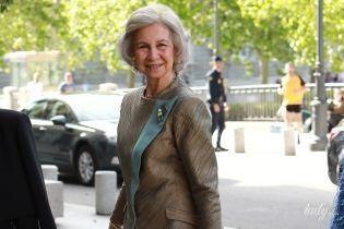 У відтінку бронзи: 80-річна королева Софія сходила на світський захід