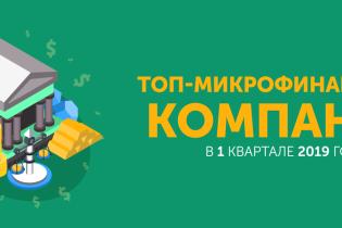 ТОП-5 мікрофінансових компаній в першому кварталі 2019 року
