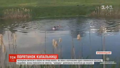 В Кропивницком копы вытащили из озера женщину, которая в верхней одежде лежала на воде