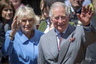У блакитному вбранні та з красивою брошкою: герцогиня Корнуольська на прийомі у Мюнхені