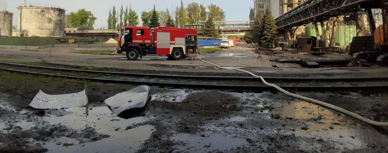 На Слов'янській ТЕС сталася пожежа