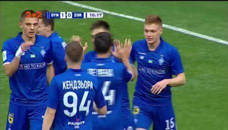 Динамо - Заря - 1:0. Видео гола Русина