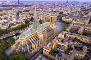 Сад та еко-матеріали: після руйнівної пожежі архітектори показали проект нового даху Паризького собору