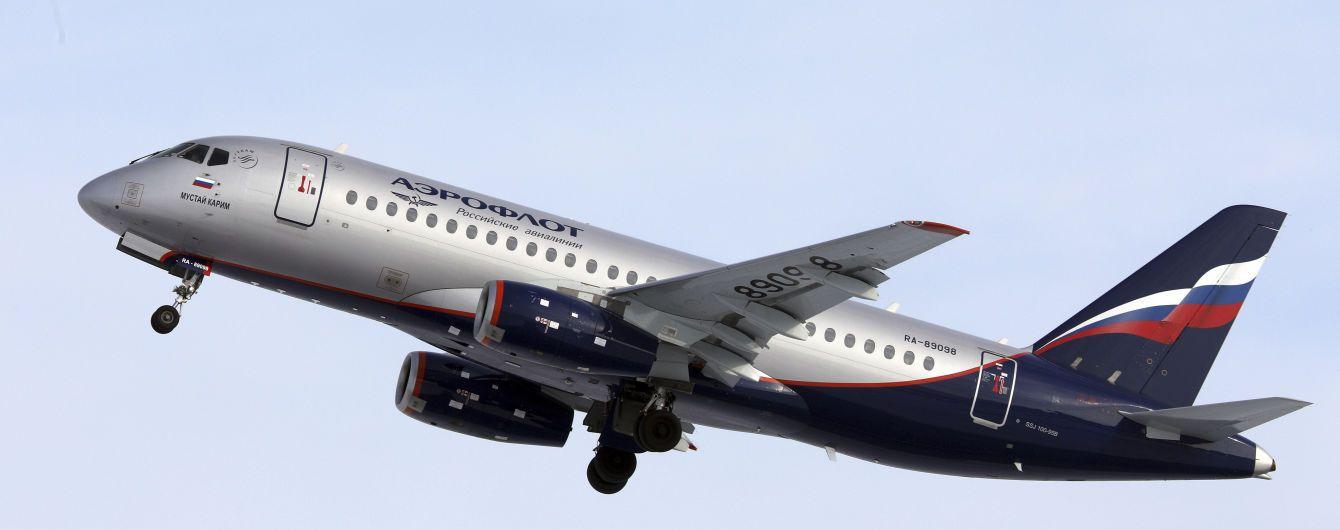 У Росії за добу двічі скасовували рейси SSJ-100 через несправність