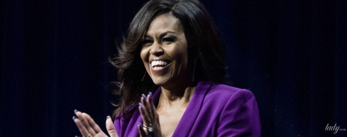 Молочный или фиолетовый: битва образов Мишель Обамы на светских мероприятиях