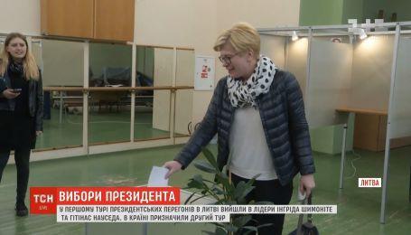 Президентские выборы в Литве: во второй тур вышли Ингрида Шимоните и Гитинас Науседа