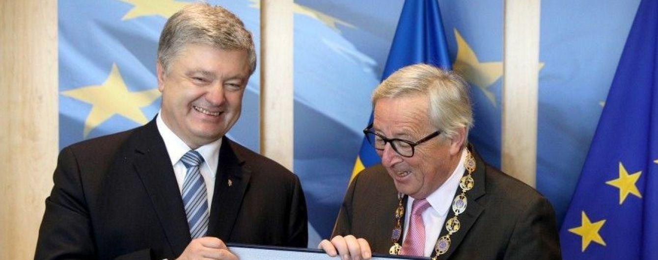 Вслед за Туском Порошенко вручил орден и главе Еврокомиссии Юнкеру