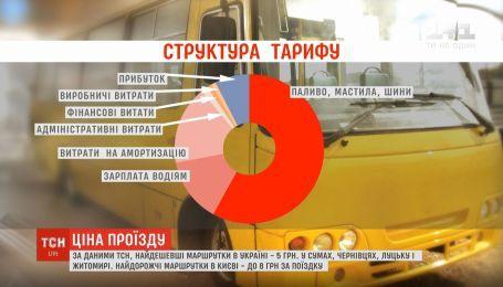 ТСН составила карту тарифов маршруток в Украине