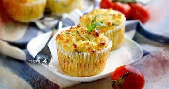 Швидкі мафіни з картоплею, сиром та зеленню