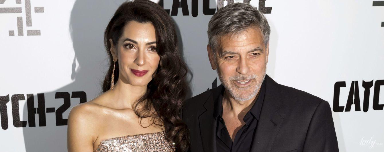 Хороша в кутюре: элегантная Амаль Клуни с мужем Джорджем на премьерном показе фильма в Лондоне