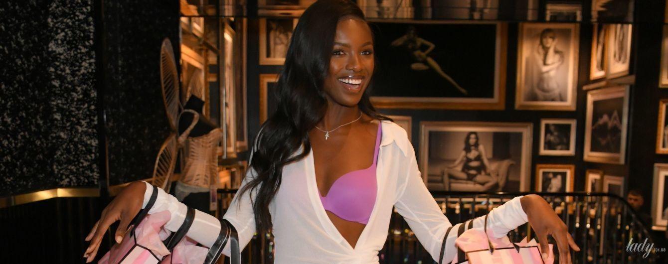 """В бузковому бюстгальтері: новий """"ангел"""" Леомі Андерсон на презентації білизни Victorias Secret"""
